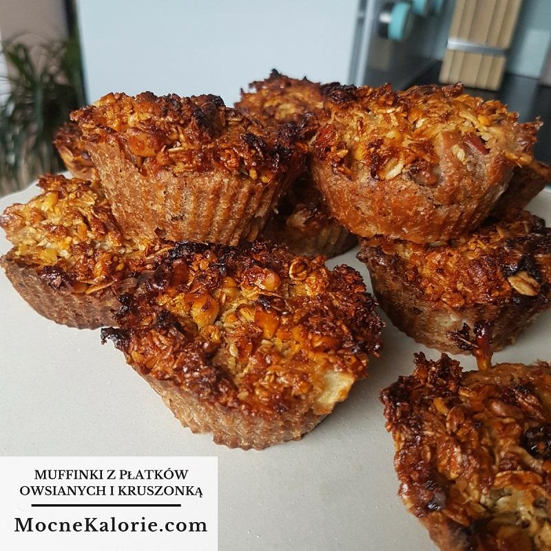 Muffinki z płatków owsianych i kruszonką