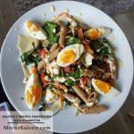 Sałatka z jajkiem i makaronem pełnoziarnistym