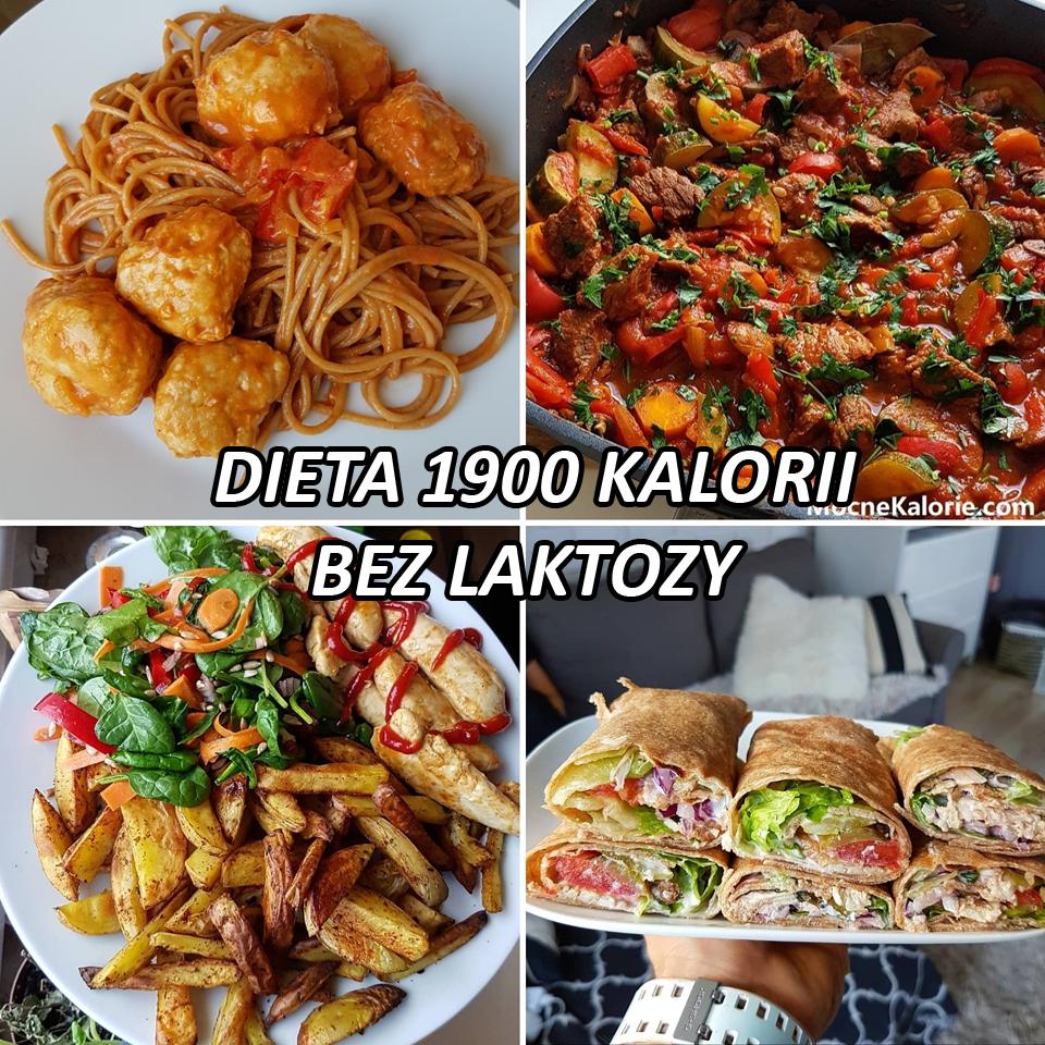 Dieta 1900 kalorii BEZ LAKTOZY przykładowy jadłospis